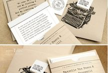 Catchy wedding stationary / by Chic Weddings