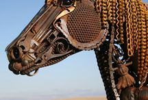 sculptures made from junk