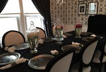 My home / Black and white dining room in 1895 home