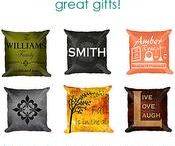 Decor | Throw Pillows / Personalized, decorative, patterned throw pillows for all areas of the home, all can be customized, a great addition to the WallLillies collections!