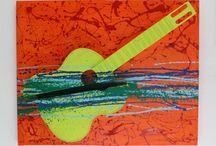 Quadri musica e magia / Quadri per arredamento moderno realizzati con strumenti musicali su tela