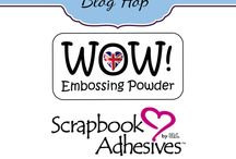 Blog Hop: Scrapbook Adhesives by 3L & WOW! Embossing Powder! October 2014 / Visit our blogs for more pictures and Info!  www.wowembossingpowder.blogspot.com  https://www.scrapbook-adhesives.com/blog/   / by WOW! EmbossingPowder