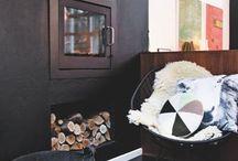 Renovering af hus / Ideer til renovering af hus- gulv, loft, stue, vinduer, ovenlys, brændeovn mv