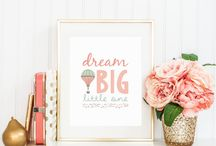 Nursery Themes ~ Coral and Gold / by Sunnyside Designs