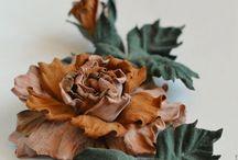 Цветы ручной работы / украшения для одежды и интерьера