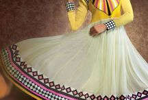 Floor Length Georgette Anarkalis / This festive season, show off your elegant looks with our brand new collection of floor length long georgette semi-stitched anarkali salwar suits @ discounted prices with FLAT 15% OFF.