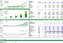 Information Technology / Financial Model Templates in Excel related to business models for IT Companies and Startups