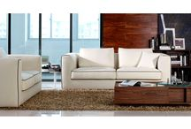 Contemporary 3-seater White Fabric Oslo Sofa With Black Piping