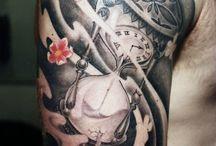 his tattoos