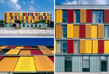 Coloured facade