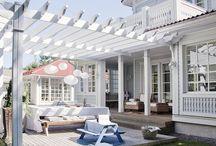 Hage og terrasse
