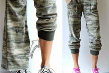 recycler et transformer de vieux pantalons
