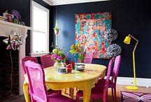 Bold interiors colour