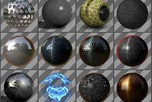 Referencias de texturas variadas