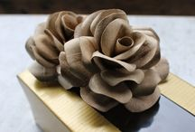 Roses from toilet paper tubes