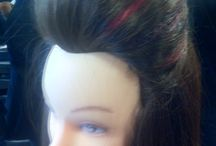 Hair styling / Hair styles created first time at college.