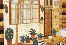 mosaic buildings & landscapes