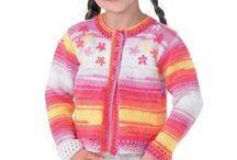 A splash of colour / A board of eye popping bright coloured knits for all the family.