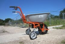 Sherpa Electric Wheelbarrow / Sherpa electric wheelbarrows for moving soil, weeds, grass and garden debris, manure and more around the garden. Electric wheelbarrows for gardeners. For more info: http://www.fresh-group.com/electric-wheelbarrow.html