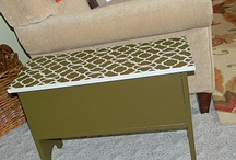 DIY Stenciling on Furniture / Update any dingy piece of furniture with paint and stencils. This board is FILLED with countless ideas of how to use stencils to make old furniture beautiful and interesting! DIY projects galore and saves you a ton of money.