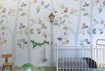 Hippe XXL muurprints van Inke / Hippe XXL muurprints van Inke, hiermee maak je een statement in je baby of kinderkamer. Te koop bij www.lieffeling.nl