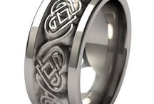 Celtic Rings / Celtic Ring for Him and for Her. #CecticRings #TitaniumRings
