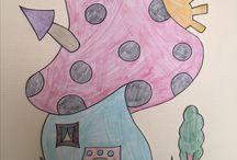 Décoration cantine de mon école 1 mur alimentation et l autre mur sur Disney Dessin par moi coloriage par les enfants
