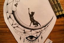 Egyptian inspired drawings