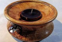 My Tea Light Holders / This Board is a selection of my wood art that can be found at http://www.australianrescuedtimbers.com/
