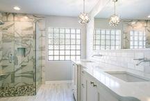 Clean Transitional White Bathroom