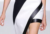 šaty černo bílé