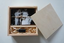 Wooden photo boxes for DIY projects