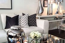 Modern Glam Interiors / How to achieve a modern, glamorous look with greys & silvers...
