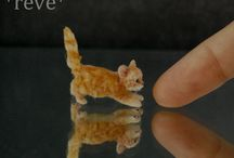 Miniature Tiere in Polymer clay