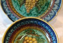 Set Piatto + Ciotola decorato a mano.Decorazione Uva, by ilciliegio, 30,00 € su misshobby.com
