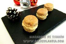 Macarons de turrón / ¿os gusta la idea? Macarons de turrón fácil receta casera , paso a paso.(incluye video)  http://www.golosolandia.com/2014/12/macarons-de-turron.html