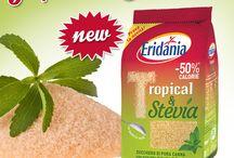 _New_Tropical&Stevia_ricette / Il nuovo arrivato in casa Eridania: Tropical e Stevia. Un mix dal cuore leggero tra il gusto esotico del puro #zucchero di #canna e la leggerezza dell'estratto di foglie di #Stevia.