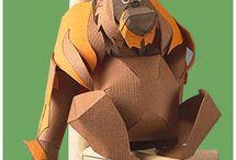 Maquette en papier animeaux