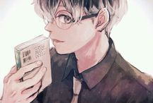"""Sasaki Haise /  """"Arima is my dad and Akira is my mom.. or something.. Even though I have nothing, I'm really happy living like this. You know Kaneki, right? Well, he's gone."""" (Kaneki Ken, Tokyo Ghoul:re)    Ken Kaneki as Sasaki Haise"""