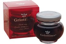 Griottines / In 1955, Claude Peureux began harvesting Morello cherries exclusively for chocolate makers. On the heels of his success Peureux launched his world famous, Griottines, made of wild Morello cherries in a light syrup of Kirsch. Perfect baked into cakes, enjoyed in champagne or even eaten one by one out of the jar, Griottines are always a delicious addition to any romantic occasion.