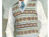 Vintage fair isle designs in knitting