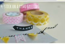 Wonderful Washi / Washi tape ideas and inspiration