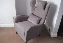 6.5 Modern club chair / Examples of our high backed club chair that has a modern twist