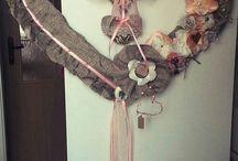 wedding, door decorations, svadba, srdce na dvere