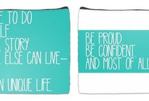 Happy Thoughts / Pouches with fun, uplifting messages.