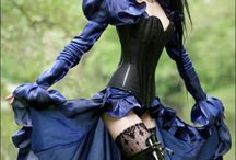 gothic, cyber, steam punk, victorian, witches, black