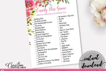 Bridal Shower Products in Spring Flowers Theme, Invitations, Games, Decorations And More / Hi, thank you for visiting this beautiful bridal shower board with products in Spring Flowers theme. Here, you'll find different invitations, games and activities, decorations and more with over 60 products in this theme.