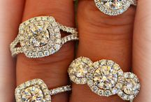 Wedding rings and dresses