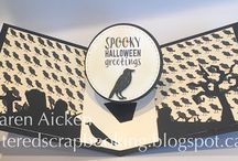 Pop it Ups Halloween Collection - Summer 2016 / Projects using dies, stamps and stencils from the Karen Burniston Pop it Ups collection for Elizabeth Craft Designs
