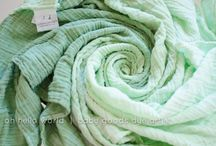 Ombre dyes muslin